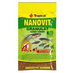 Tropical Nanovit Granulat slowly sinking- szemcsés eleség 10 g
