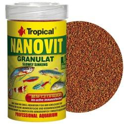 Tropical Nanovit Granulat sinking with Spirulina- szemcsés eleség- 70g /100 ml